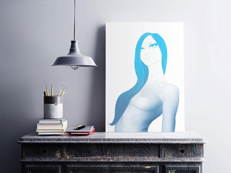 Artwork - You give me the Blues art portrait photoshop digital art