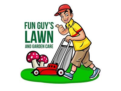 Lawn Care Logo logo garden care mascot logo garden care logo lawn care logo lwan care mascot logo