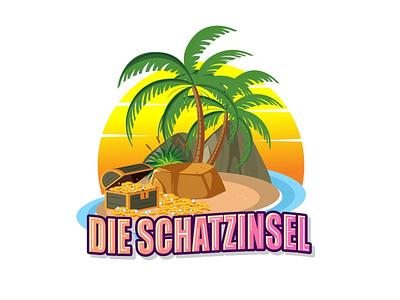 Treasure Island logo treasury logo coconut tree logo tree logo die schatzinsel logo treasure island logo treasure logo