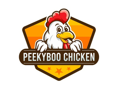 Chicken Mascot Logo mascot logo design peekyboo chicken logo logo for sale pet mascot logo animal mascot logo mascot logo chicken logo chicken mascot logo