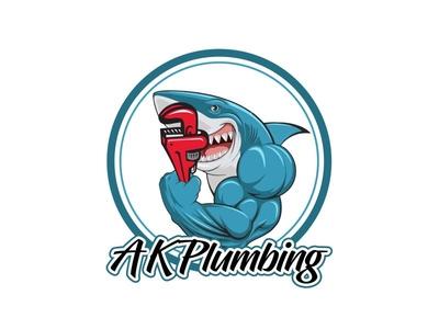 Plumber and Fish Logo