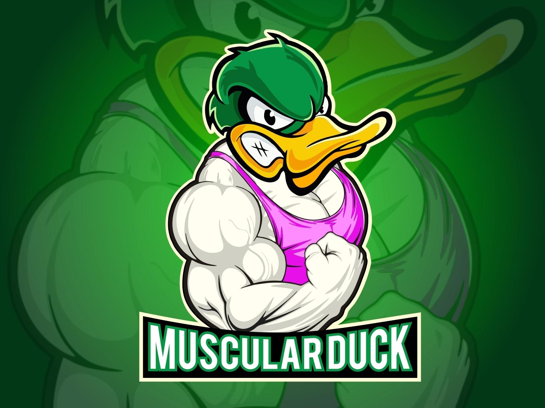 Duck Mascot Logo muscular mascot logo design logo goose logo design buy logo big logo versatile logo illustration 2d logo hand drawn logo 3d hand drawn company logo logo a day duck logo duck logo for sale duck mascot logo duck mascot logo for sale