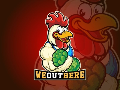 Muscular Chicken Logo