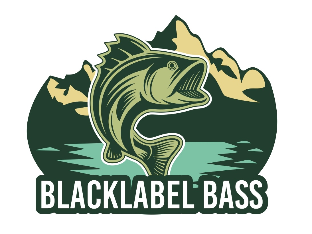 Fishing Mascot Logo bass mascot logo black label design bass design bass logo blacklabel logo fishing logo fishing mascot logo