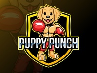 Puppy Mascot Logo