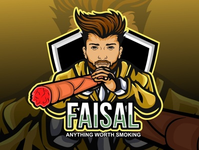 Smoking Mascot Logo