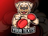 Boxing Dog Mascot Logo