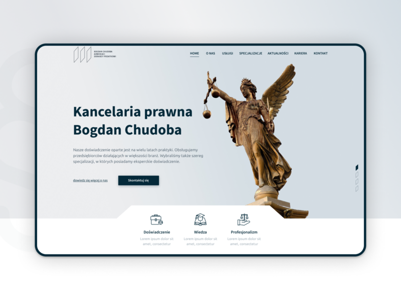 Bogdan Chudoba design figma ux uidesign ui website elegant minimal lawyers webdesign