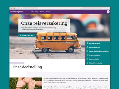 Insurance homepage principle b2b animation responsive design interface design branding interaction design webdesign user experience business website insurance