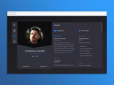 Portfolio Site Design wordpress portfolio site website digital ui design ux design