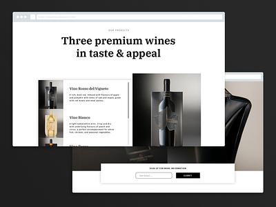 Wine Pouch Landing Page landing page website ux design digital ui design