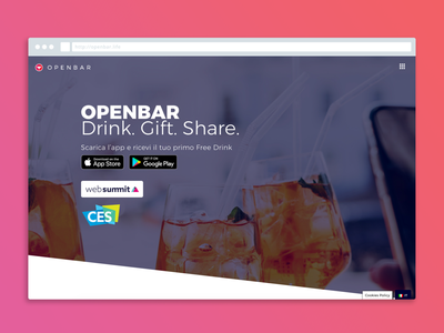 OpenBar Website website design wordpress ui design ux design digital