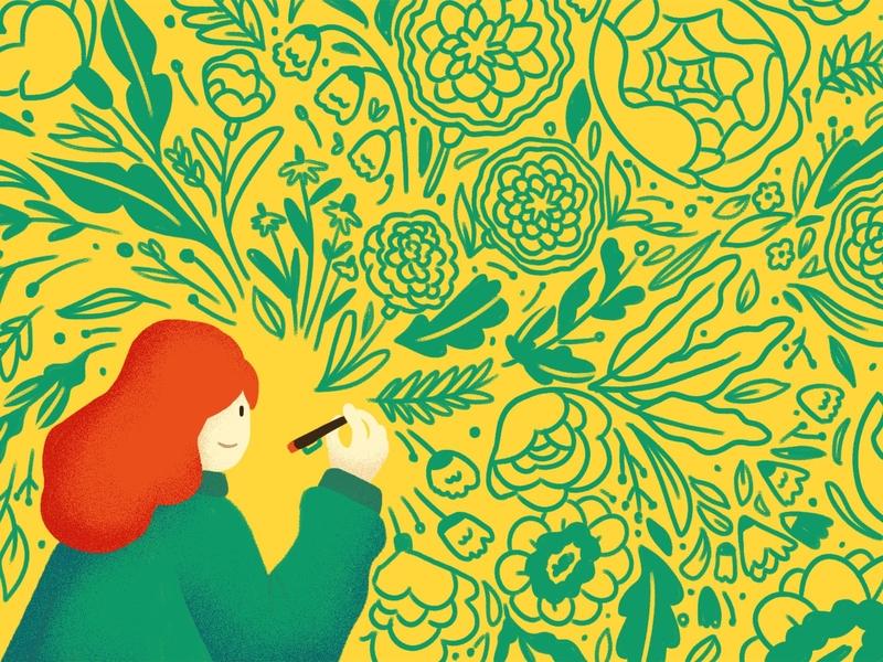 Blossom - Concept Art vector illustrator 2d animation animation botanical illustration botanical art botanical characterdesign 2d character 2d illustration drawing concept art design illustration