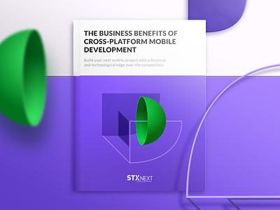 The Business benefits of cross platform mobile development violet green stx next pd stx next pd ebook design ebook cover illustration stxnext