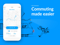 Commuting made easier as quick as missing catching drawing run frame by frame app ux ui application animation design animation illustration motion stx stxnext blue