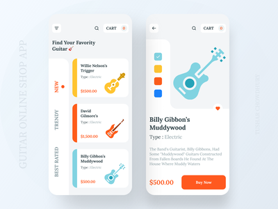 Guitar Online Shop App 🎸 2020 trend new trend mobile app music app guital shop guital shop branding ios app design app concept home screen ios app ux ui