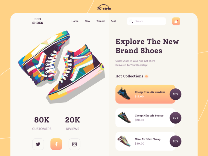Sneaker Shop Platform web designer website web design shoes landing page shoe store minimal productdesign sneaker landingpage e-commerce branding 2020 trend illustration typography modern ui ui ios app design app concept home screen ux