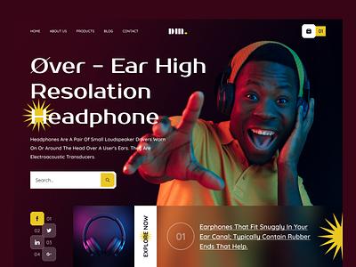 Headphone E-Commerce UI Exploration e-commerce shop e-commerce mobile dark ui bluetooth system sound app music audio headphone speaker wireless web design website web 2021 trend modern ui ux ui