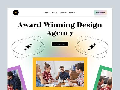 Digital Design Agency Website creative saas startup marketing studio agency website agency landing page agency new website web hero section header hero typography 2021 trend minimal modern ui ux ui