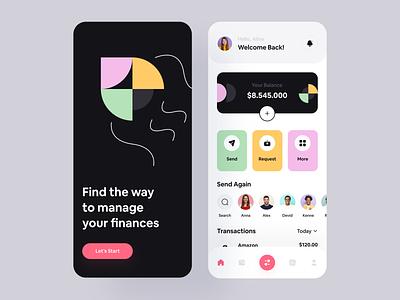Finance: Mobile App loan mobile ui mobile app design fintech banking finance app finances financial financial app bank banking app mobile app mobile app home illustration modern ui minimal ux ui
