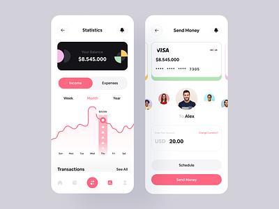 Finance: Mobile App investment stocks loan fintech app fintech financial app financial finances app finance bank app banking app bank app mobile app mobile minimal modern ui ux ui