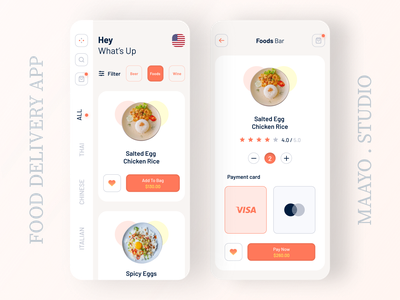 Food Delivery App food delivery service food delivery food app ecommerce food modern food ui details screen home screen visual design ios app ios app design modern ui app concept user inteface user experience design ux ui
