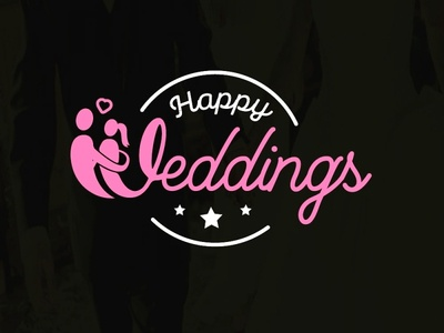 Creative script letter wedding logo design