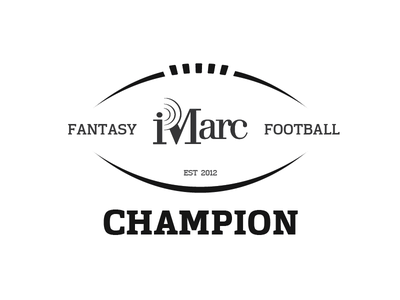 iMarc Fantasy Football Champion logo type engraving