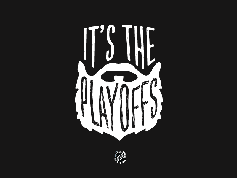 Grow it out illustration type playoffs beard nhl hockey
