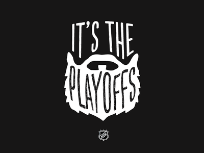 Grow it out illustration type playoffs beard nhl hockey