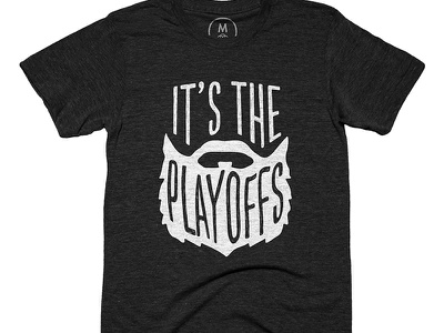 Grow 'em out graphic tee shirt illustration type playoffs beard nhl hockey
