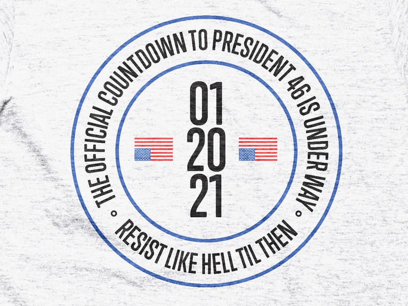 Countdown to 46 president usa resist t-shirt