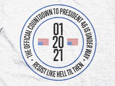 Countdown to 46 president usa resist t-shirt