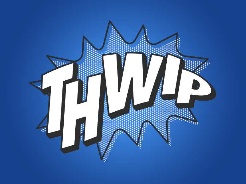 Thwip halftone type spider-man comics graphic tee tee apparel