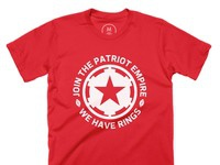 Join the empire   100  cotton   men   tee   red