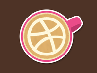 Dribbble Coffee Art