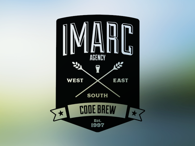 Imarc Code Brew sticker branding beer glass label