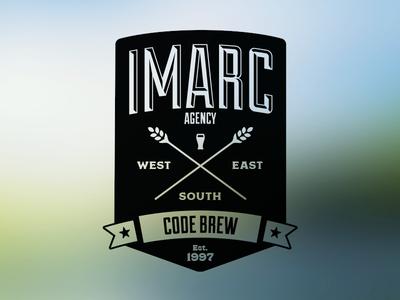 Imarc Code Brew sticker branding beer glass label