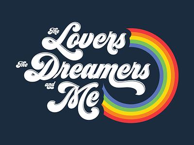 Rainbow Connection seventies rainbow type graphic tee apparel tee