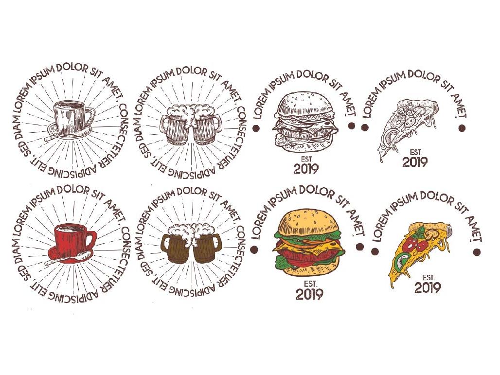 handrawn logo set illustration food logo drawing illustraion logo vintage vectorart logo set hand drawn logo logo vector design