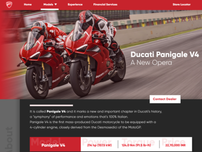The Ducati Experience @Behance