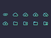 Neon Icons - #1 File Set