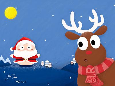 Funny Christmas night merry christmas santa christmas