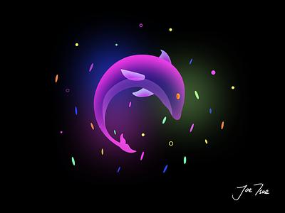 Beautiful Dolphin dreamy fluorescence dolphin