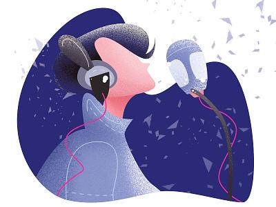 Singer singer sing dreamy design illustration