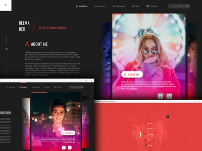 Download Adobe XD Animated Resume Web Template ui minimal creative design graphicdesigns resume xd adobe ux design uidesign slide adobe xd