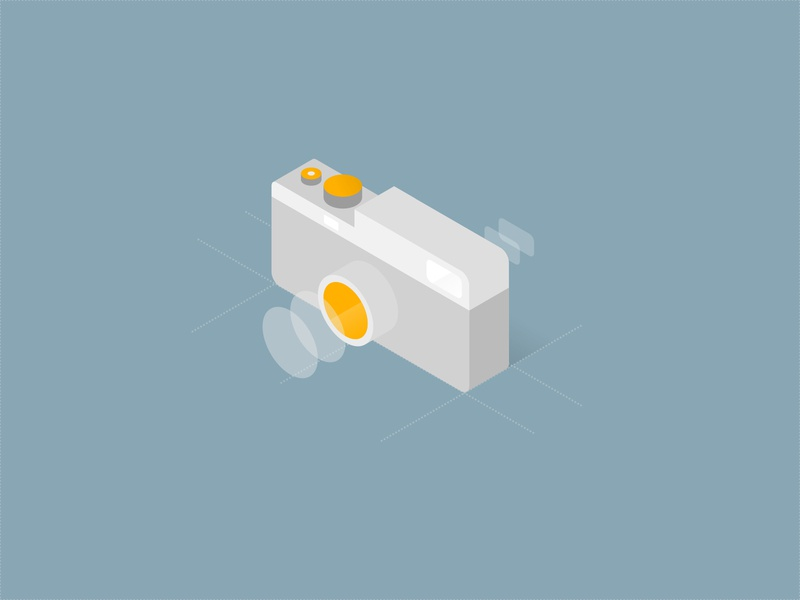 a Camera - Isometric Illustration