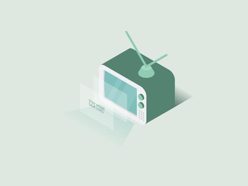 a Television - Isometric Illustration