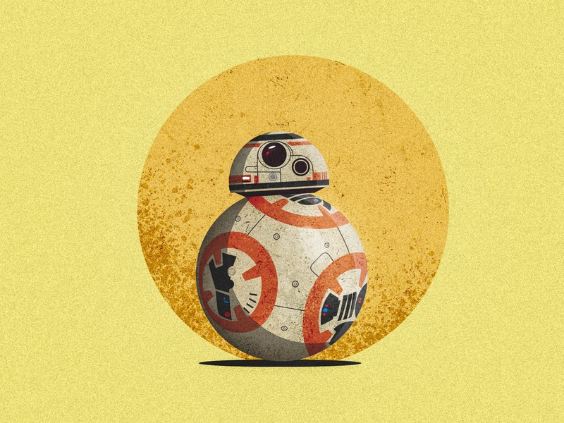 BB8 vector illustration vector art illustrator light robot star wars bb8 vintage old texture illustration vintage texture vintage vector design srabon arafat illustration