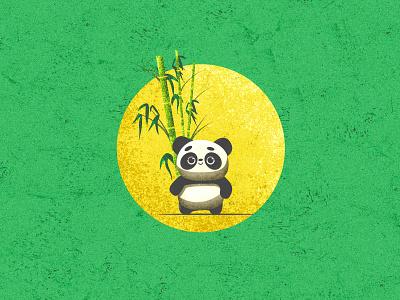 Panda panda illustration vintage design texture vintage vector illustration vector art illustrations illustration art illustraion panda vector design landscape landscape design srabon arafat illustration